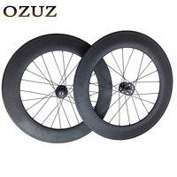 Одежда высшего качества OZUZ на 88 мм довод трек велосипед колесной 3 К матовая или глянцевая колеса велосипеда 17 т винтики углерода колеса mac