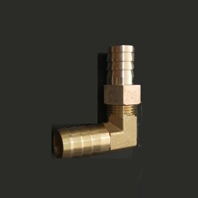19mm Schlauch Barb Ellenbogen Messing Stacheldraht Rohr Fitting Koppler Stecker Adapter Für Kraftstoff Gas Wasser Reich Und PräChtig Sanitär
