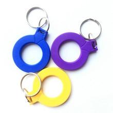 1pcs 125KHZ TK4100 EM4100 RFID תג מזהה לקרוא רק מפתח כרטיס Keyfobs אסימון תג Keychain רק לקרוא צהוב /כחול/סגול