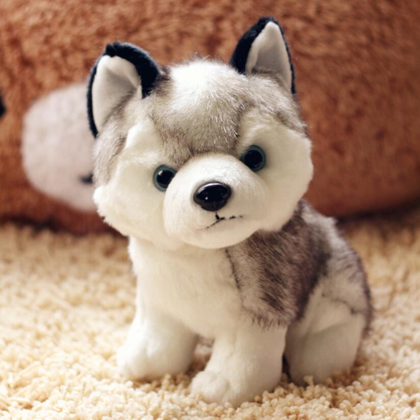 18cm Genuine Husky Plush Toys Cute Soft Animal Dog Toys Doll Creative Gift for kids Birthday Gift 80cm dog stuffed toys plush toy creative simulation doll white pattern dog home furnishings dog animal trade for kids gift