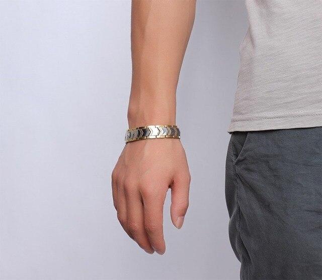 розовое золото цвет титановая сталь двухрядные магнитные браслеты фотография