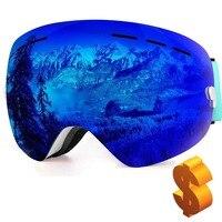 Professionelle Ski Brille Doppel Objektiv Winter Schnee Sport Snowboard UV Schutz Anti Nebel Airsoft Für Männer Frauen Sphärische spiegel-in Skibrillen aus Sport und Unterhaltung bei
