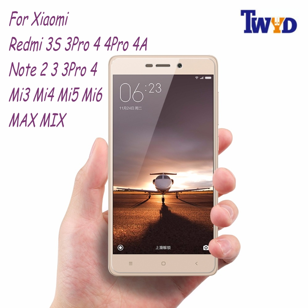 9H HD berkualiti tinggi untuk Xiaomi Redmi 6A 4A 3 3s 5A 5 Plus Tempered Glass Redmi Note 4X 3 pro Mi5 Mi6 Phone Screen Protector Film