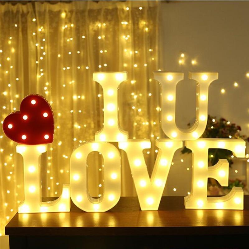 33 CM LED MULTI COLOURED LIGHT CARNIVAL WHITE WEDDING CELEBRATION LETTER L