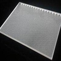 6mm 단일 양면 아크릴 레이저 조각 백라이트 디스플레이 패널  led 창 시스템 (30x30 cm) 에 대 한 빛 가이드 패널 시트
