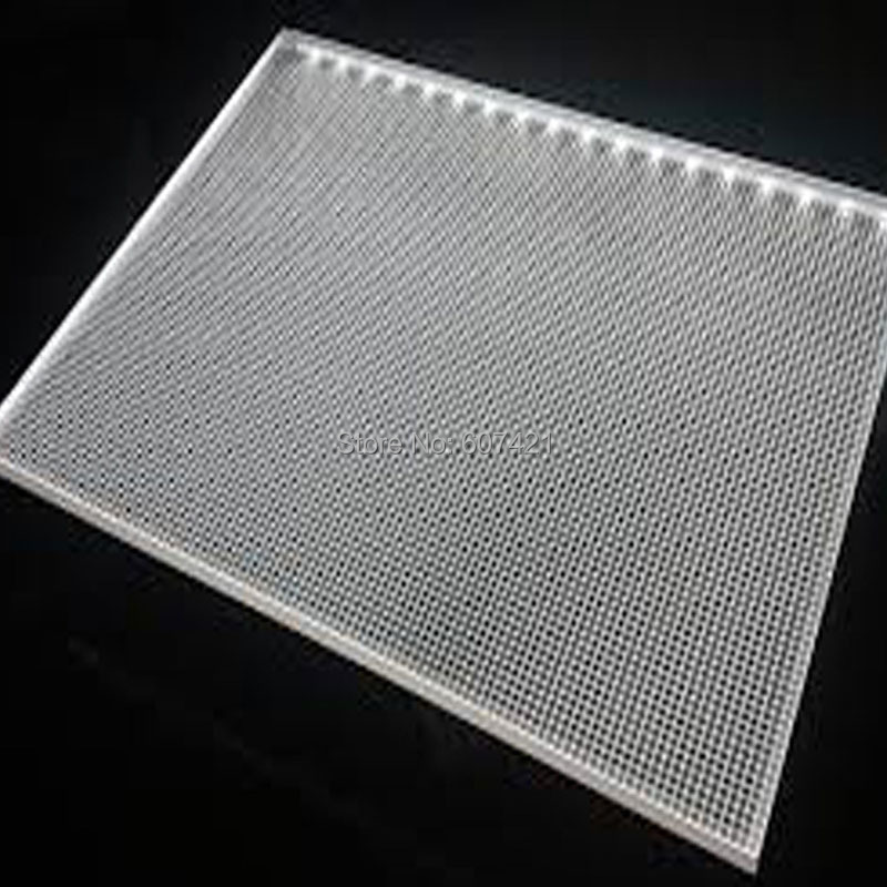 6mm Single Sided Acrylic Laser Engraving Light Guide Panel Sheets for Backlit Display Panel,Led Window Systems(30x30cm)