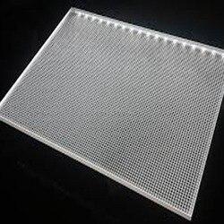 6mm jednostronny akrylowy Panel światłowodowy do grawerowania laserowego na podświetlany wyświetlacz  systemy okienne Led (30x30 cm) w Oświetlenie reklamowe od Lampy i oświetlenie na