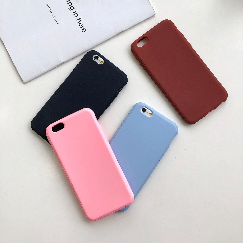 Fashion Liquid Silicone Candy Color Soft <font><b>Phone</b></font> Coque For iPhone 6 Case For iPhone 7 6 Plus X 10 8 7 <font><b>6s</b></font> Original Protective Cover