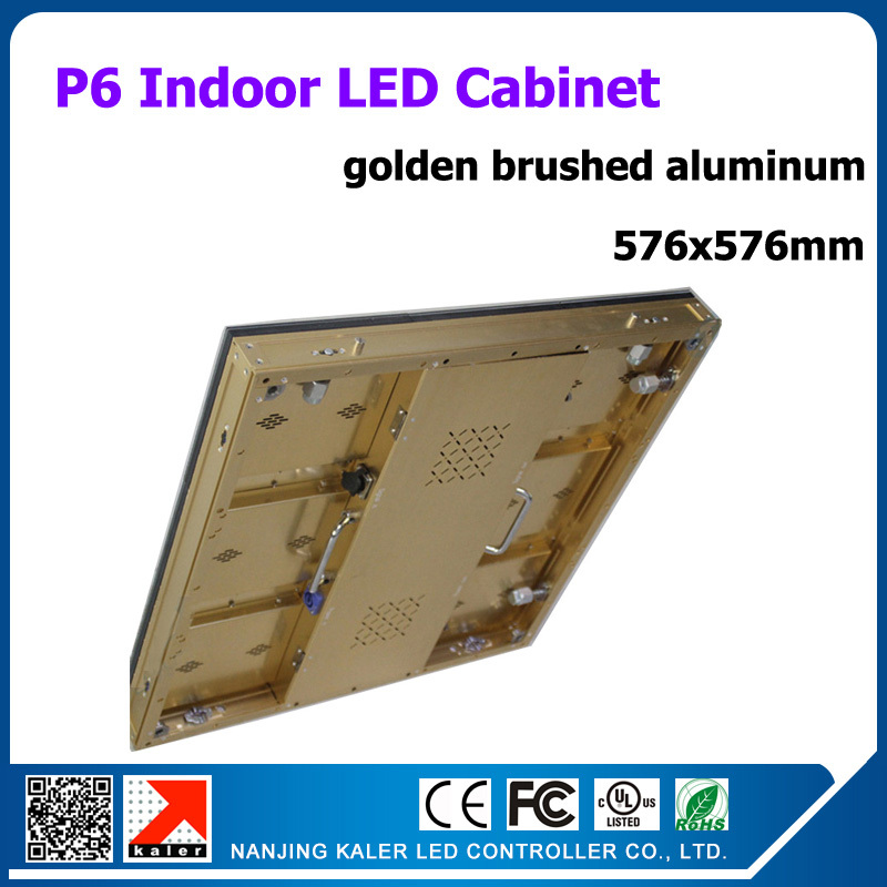 TEEHO 576*576mm P6 Cabine Picture Message Video Led Display Screen 9pcs 192*192mm 3528SMD Rgb Led Panel P6 With Receiving Card