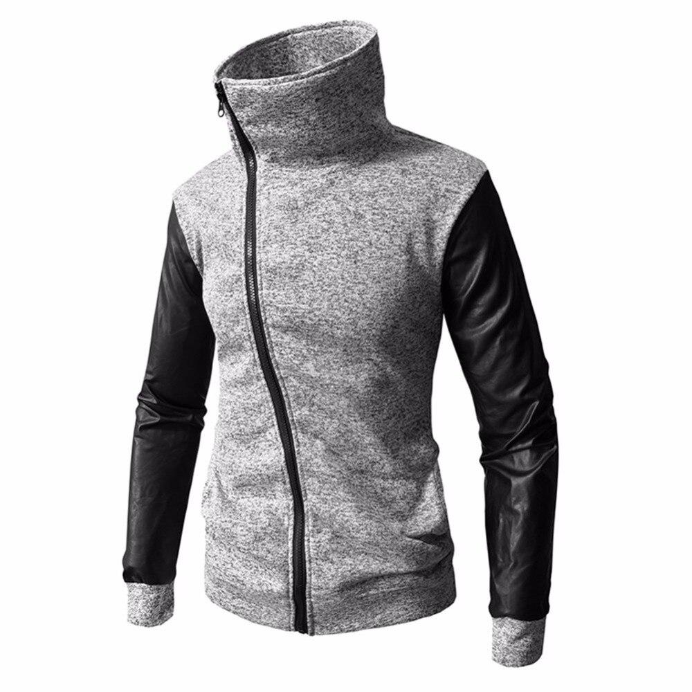 New Brand Sweatshirt Men Hoodies Fashion Turtleneck Splice Hoodie Mens Hip Hop Cardigan MenS Tracksuits Moleton Masculino XXXL