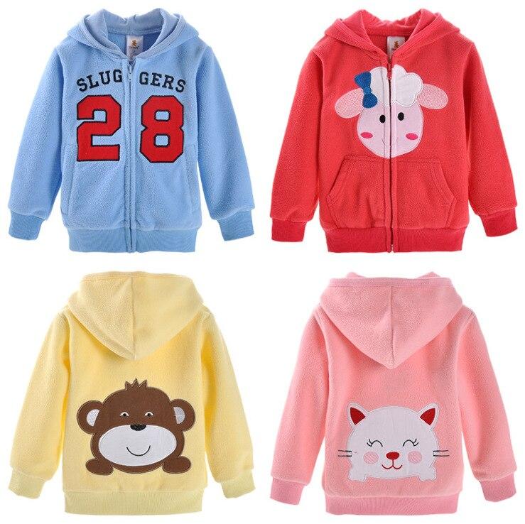 2014autumn Winter 1 5t Children Kids Coat Cartoon Fleece
