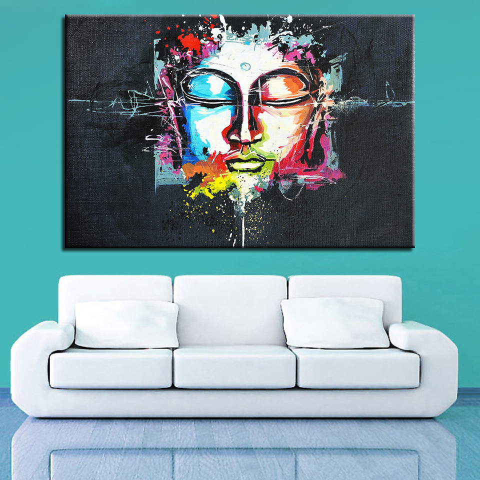 buddha painting wall art painting picture paiting 3 panel canvas