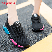 Hot Women Shoes 2019 New Mesh Sneakers Woman Breathable Lace