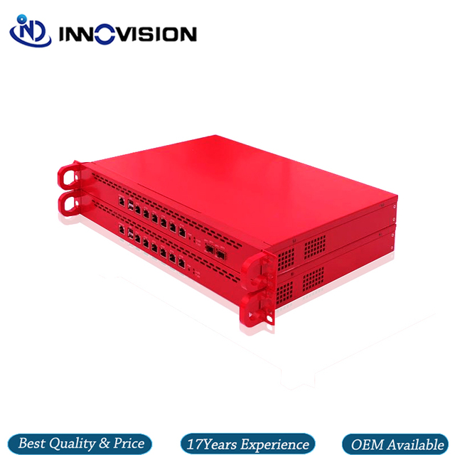 6GBe/6 * RJ45 Gbe LAN raf 1U Pfsnese güvenlik duvarı sunucu Barebone destek i3/i5,i7 işlemci, 2 * SFP seçeneği