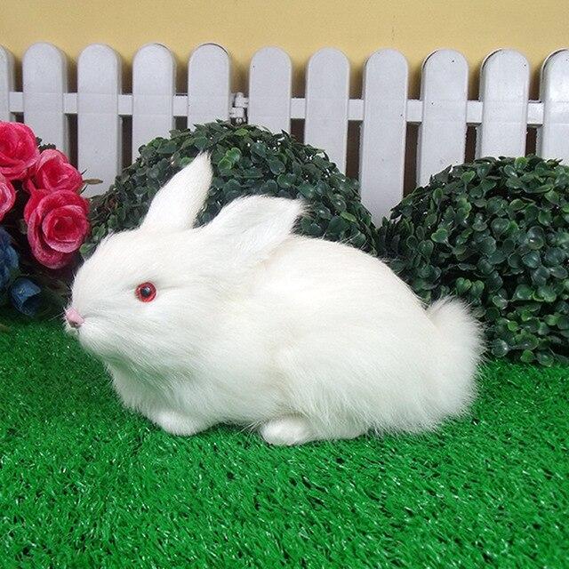 Handmade Kerajinan Ornamen Home Furnishing Ornamen Stuffed Plush Hewan Kelinci Putih Anak Kognitif Pendidikan Mainan