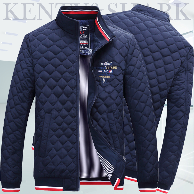Kenty&shark Autumn And Winter Coat Cotton Jacket Men Men's Stand Collar Fashion Cotton Jacket Plus Cotton Thickening Large Size