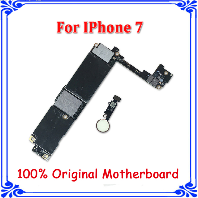 premium selection 5108d 68474 US $204.0 |Aliexpress.com : Buy white Home button motherboard for iphone 7  original Unlock mainboard 256GB with fingerprint Touch ID logic board free  ...
