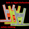 chaleco reflectante Neon lime yellow reflective vest V clothing high visibility Safety belt article Safe in Night Reflective