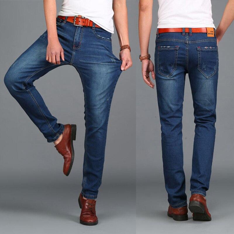Fashion Designer Jeans Per Gli Uomini Dei Jeans di Marca Famosa Taglia 44 HIGHT QUALITÀ dei jeans Calca masculina tamanho 46 48 grande formato 2018 Inverno