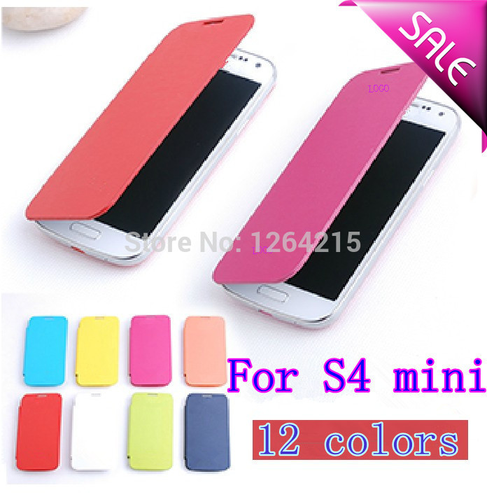 Back Cover Flip Leather Cases Battery Housing Case For Samsung Galaxy S4 SIV Mini I9190 9190 i9192 i9195 + Screen Protector