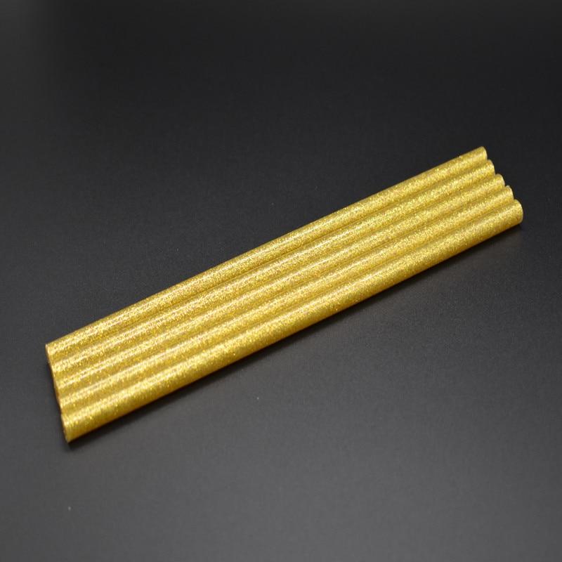 DIY Gold Hot Melt Glue Sticks Adhesive For Glue Gun High Viscosity Adhesive Repair DIY Art Craft Heating Tool 5pcs 7x200mm