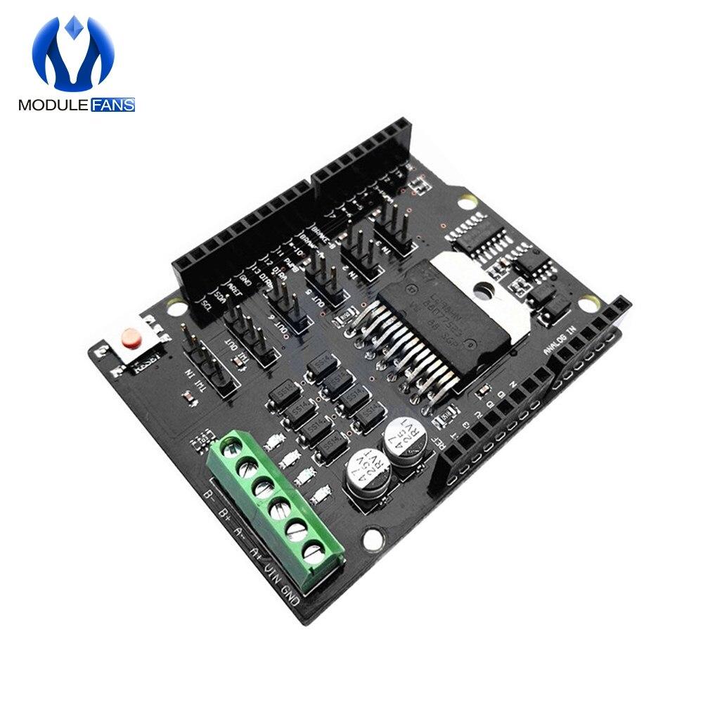 Плата расширения L298NH для Arduino UNO R3 MEGA2560, двухканальный щит драйвера двигателя постоянного тока, модуль драйвера, замена L298P L298