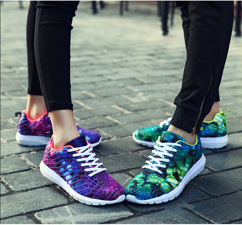 zapatos mujer 2018 new men running shoes flat Breathable motion shoes women lace couple camouflage spor shoes zapatillas hombre ...