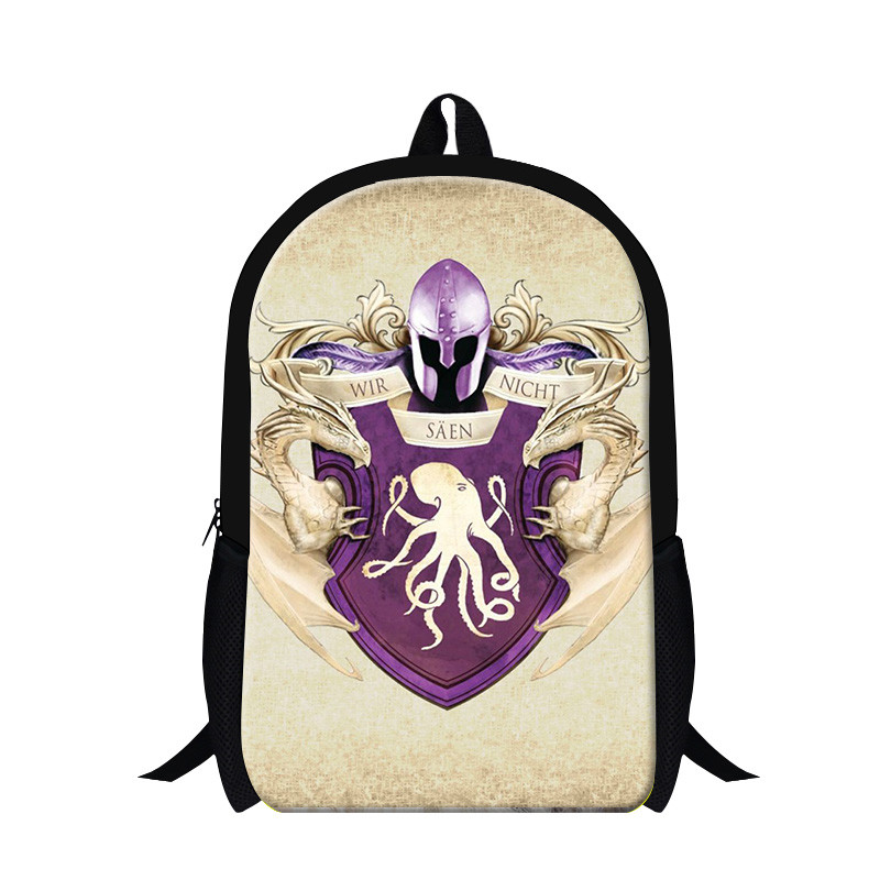 New Game of thrones character backpack