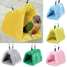 Winter Bird Hammock Hanging Cave Plush Snuggle Happy Hut Tent Bed Bunk Parrot Bird Toy(China)