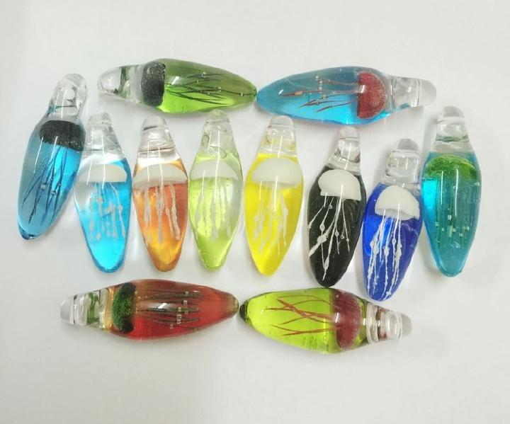 Livraison gratuite 12 pendentif bijoux de style chinois méduse verre coup bijoux faits à la main-in Pendentifs de collier from Bijoux et Accessoires    2