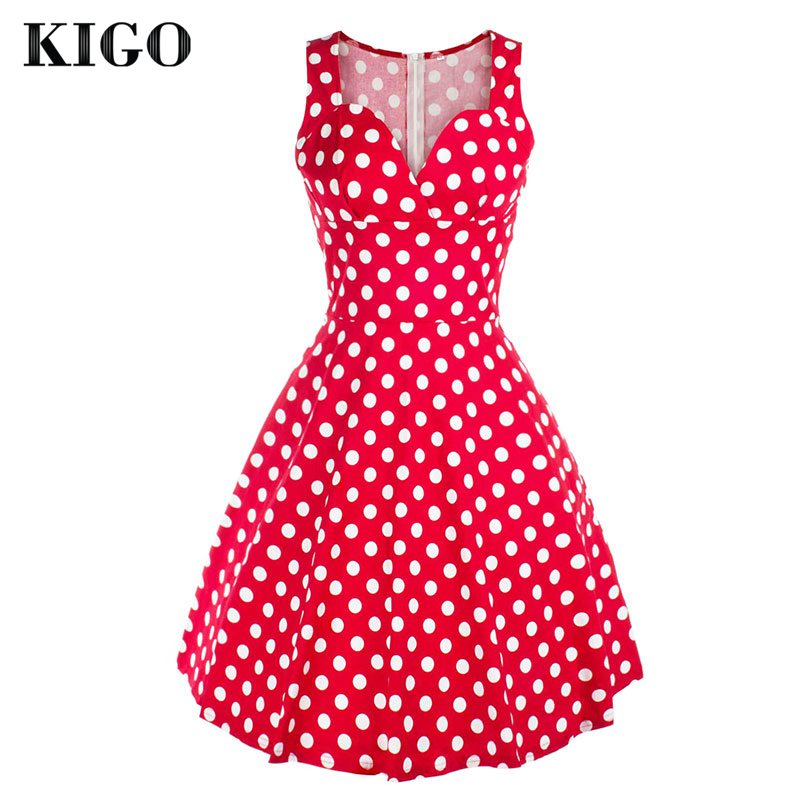 Online Get Cheap Retro Red Polka Dot Dress -Aliexpress.com ...