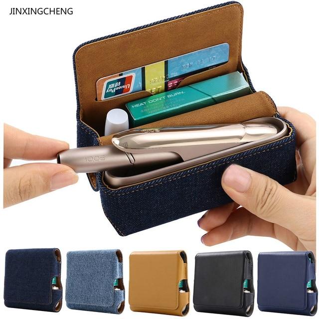 JINXINGCHENG Filp Wallet Pouch Case for iqos 3.0 Case  Cover for iqos 3 Protective Accessories 5 Colors