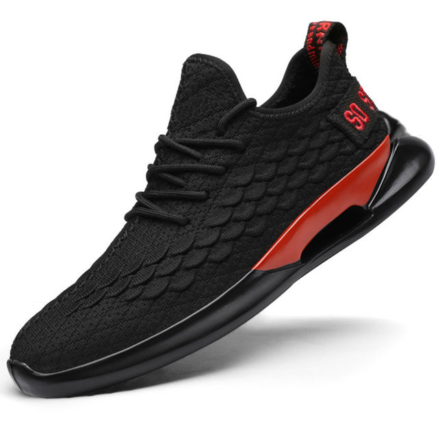 Man Sneakers Breathable Casual No-slip Men Shoes Fashion Male air mesh Shoes Lace up Wear-resistant Summer Sports Shoes