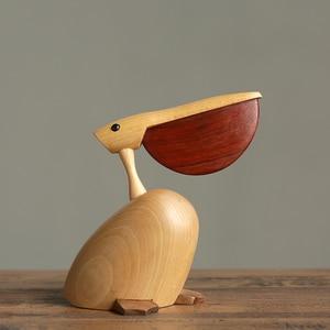 Image 3 - 북유럽 덴마크어 단단한 나무 장식 목조 홈 TV 캐비닛 입구 장식 설정 Bigbillbird 공예품