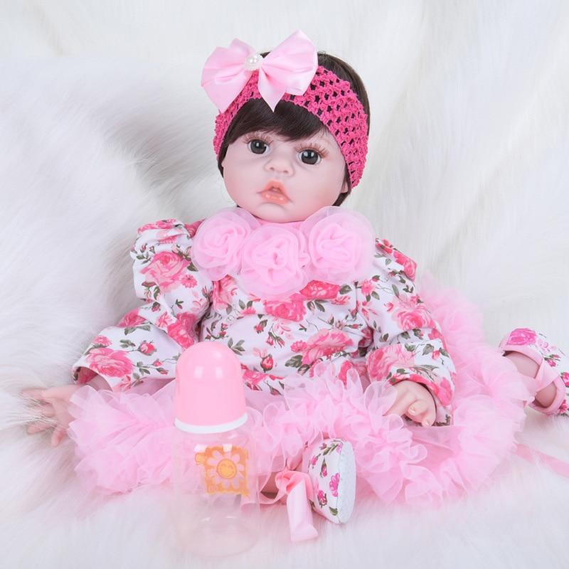 Fashion Doll with Pink Flowers Dress Princess Doll Girls Toys Children Gifts Boneca SB5006 Brinquedos Doll Reborn American Girl blyth nude 30cm fashion red and black boneca cabelos longos bonecos colecionaveis doll toys for children girls