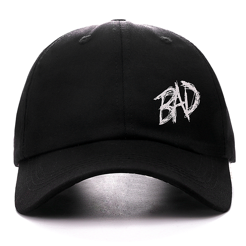 Dropshipping XXXTENTACION BAD Snapback   Cap   Cotton   Baseball     Cap   For Men Women Adjustable Hip Hop Dad Hat Bone Garros