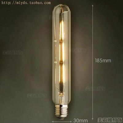 4 Вт E27 220 В светодиодный светильник для декора, лампада Эдисона, винтажный декоративный светильник с ампулами T10 G80 G95 ST64 T225 T30 - Цвет: Многоцветный