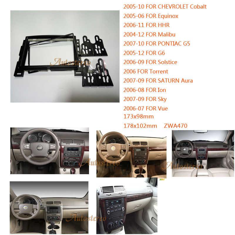 Mobil Radio fascia Facia untuk CHEVROLET Cobalt HHR Equinox Malibu PONTIAC Solstice 2 DIN Radio Mobil Refitting Bingkai Outter