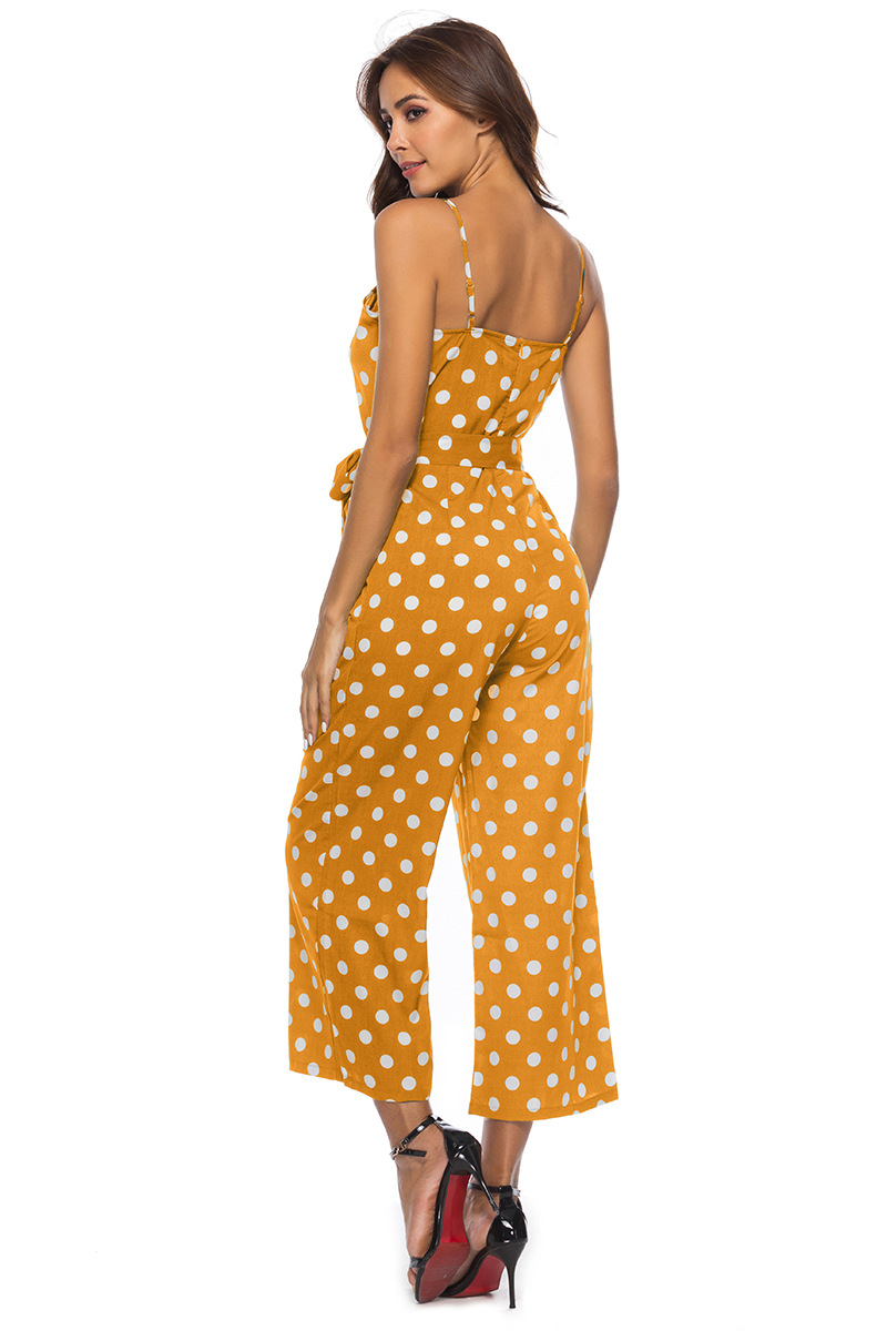 HTB1NKZDbojrK1RkHFNRq6ySvpXaM - Women Rompers summer long pants elegant strap woman jumpsuits polka dot plus size jumpsuit off shoulder overalls for womens