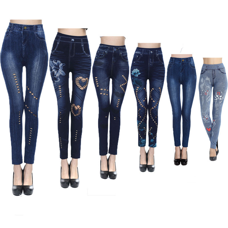 Fasion Women Skinny Pants  Stretchy Slim  Jeans Pencil PantsTight Trousers haroute women jeans skinny pencil pants jean taille haute long pants women trousers jeans mujer burr embroidery retro jeans
