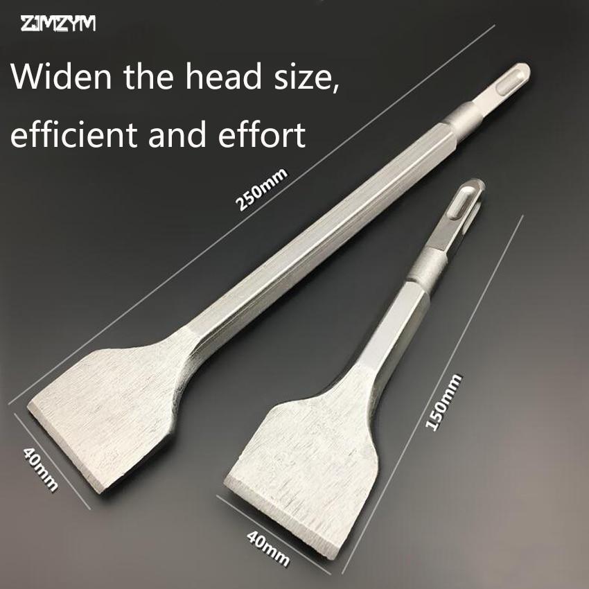 150MM / 250MM longitud cuadrado mini martillo eléctrico cincel broca de pala para perforación de ranurado de hormigón / ladrillo / pared / azulejo
