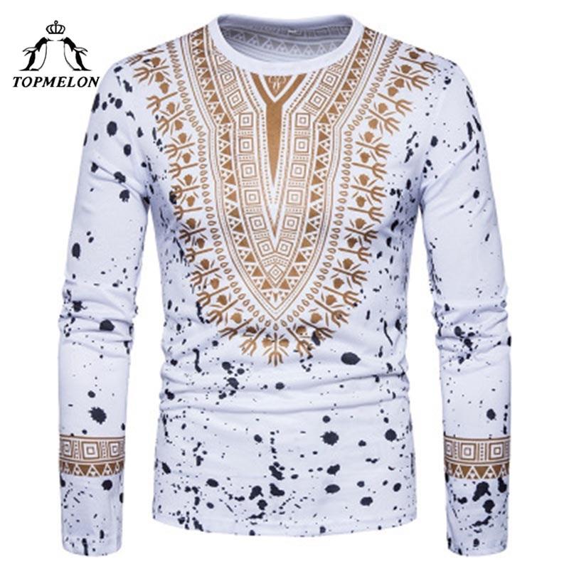 pipigo Men Summer Casual Long Sleeve African Print Dashiki Mandarin Collar Dress Work Shirt