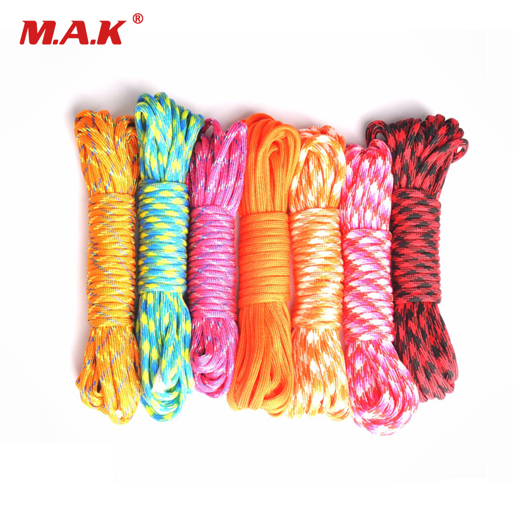 25ft/50ft/100ft 550 Paracord Parachute Cord Lanyard Rope Mil Spec Type III 7 Stand Survival Rope For Outdoor Climbing