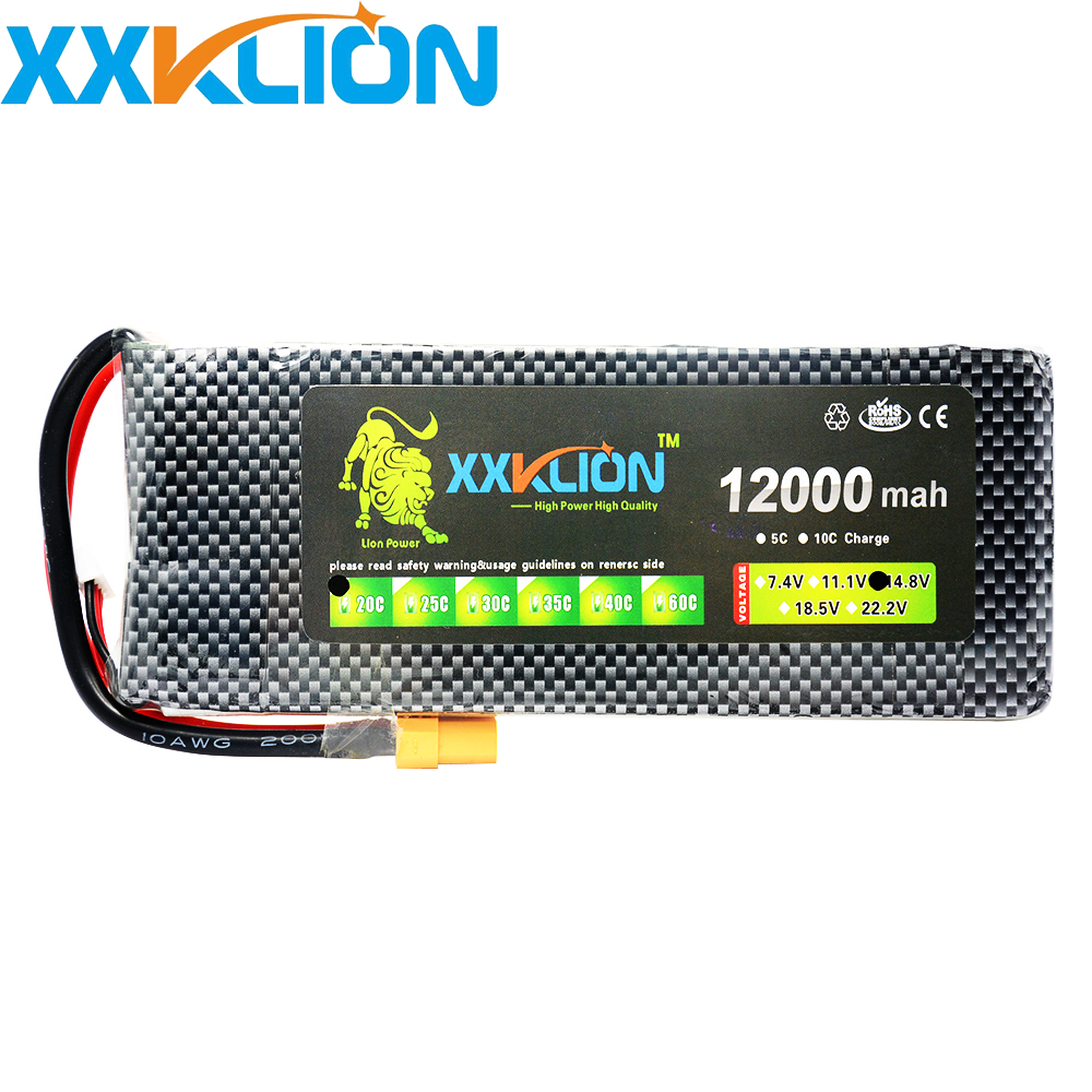 XXKLION drone Lipo battery pack 14.8v 12000mAh 20C 4s Lithium battery high rate high capacity battery unmanned aerial vehicle 1pcs free shipping lipo battery 3 7v 200mah 20c helicopter x4 x11 x13 high endurance high precision low voltage protection board