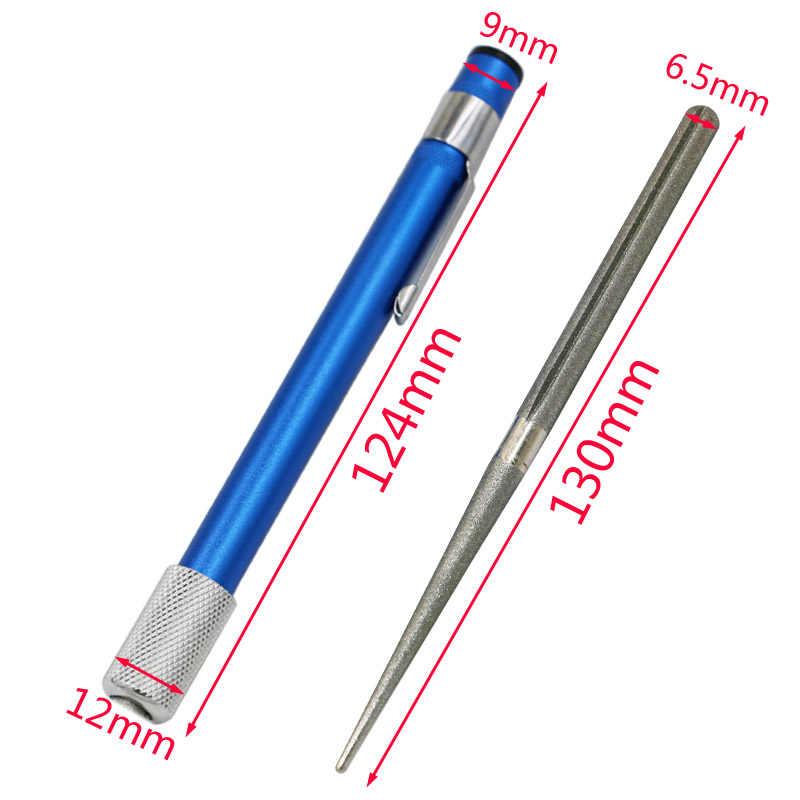 Открытый Острый камень портативная ручка Алмазный нож зернистость острый ener острое кольцо нож для кухни и охоты рыболовный крючок острый ener
