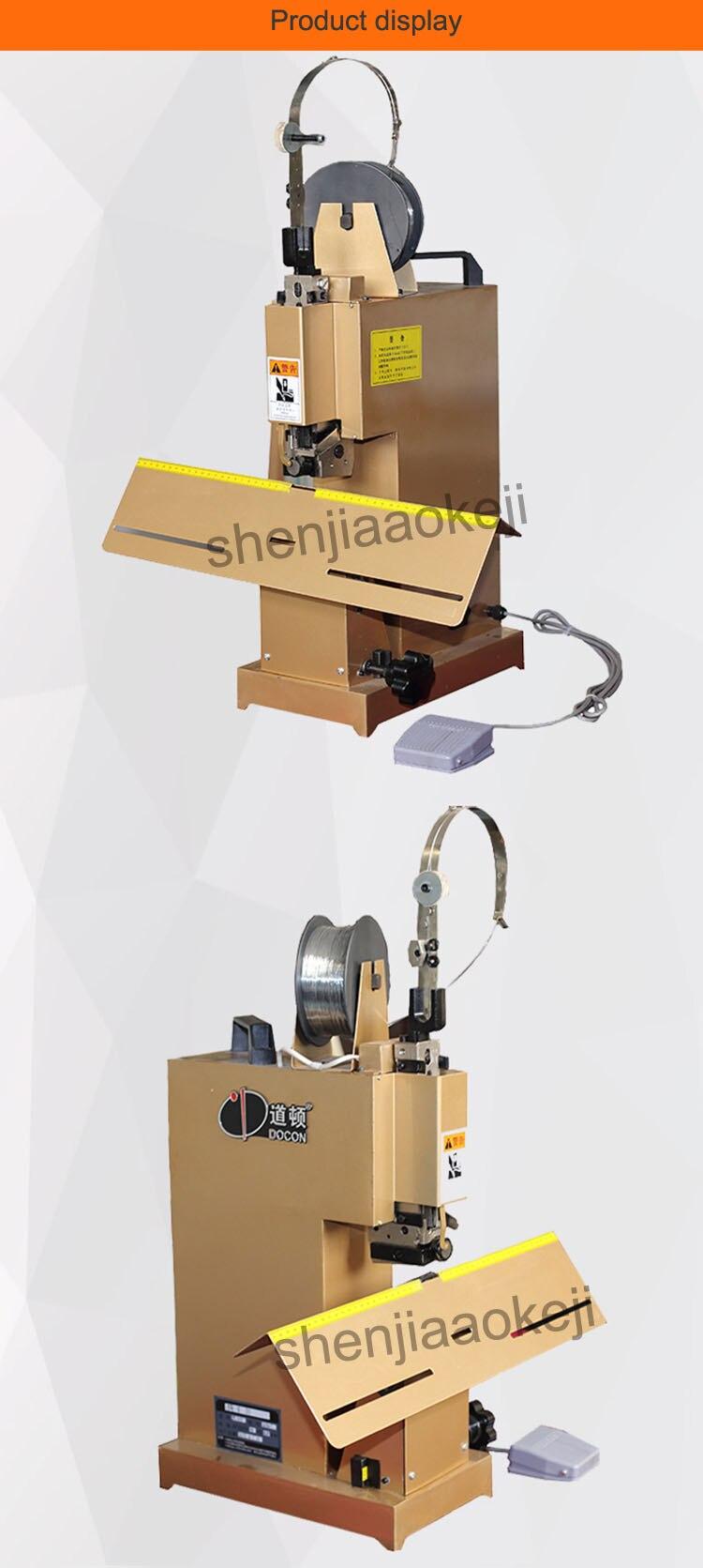 Fio vinculativo máquina grampeador Elétrico única cabeça