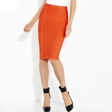 HOT 5 Colors High Quality Girl's Tight Knee Length Bandage Skirt Fashion Sexy Party Skirt