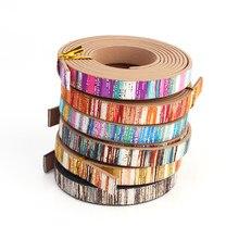 Xcharms 10mm/corda de couro/arco-íris 3/acessórios peças/descobertas de jóias/feito à mão/fabricação de jóias/pulseira material