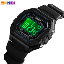 SKMEI Mens Watches Top Brand Luxury LED Digital Watch Men Watch Multifunction Waterproof Military Sport Men's Watch Clock 1496(China)
