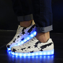 New 2016 Women Shoes Fashion Women Led Shoes Superstar Light Shoes Women Lightning Shoes Leisure With Low Fluorescent Lamps